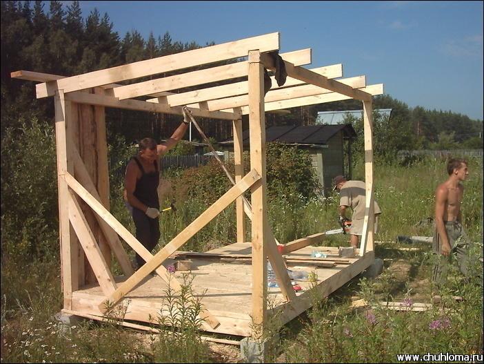 Как построить бытовку своими руками